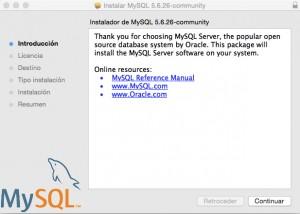 Instalación MySQL