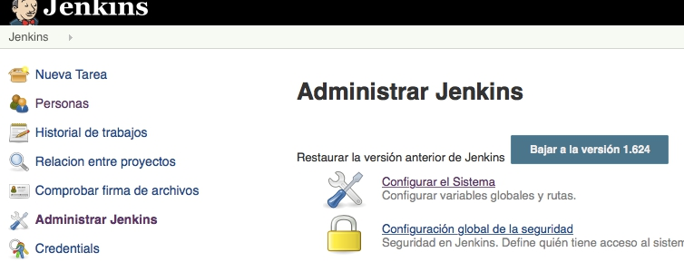 Administrar Jenkins