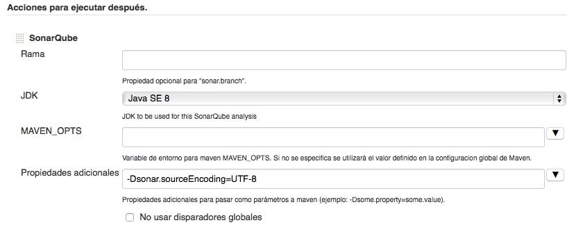 Configuración de la propiedad en Sonar para trabajar con UTF-8