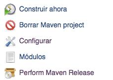 Nueva opción de menu Perform maven release