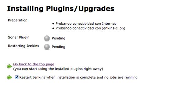Instalación del plugin de SonarQube para Jenkins